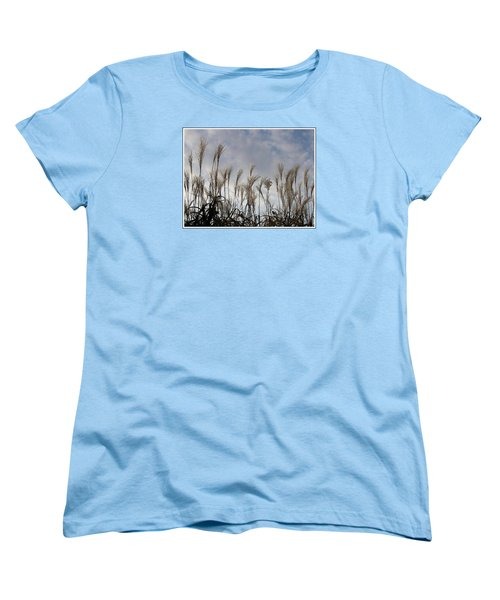 Tall Grasses And Blue Skies Women's T-Shirt (Standard Cut) by Dora Sofia Caputo Photographic Art and Design