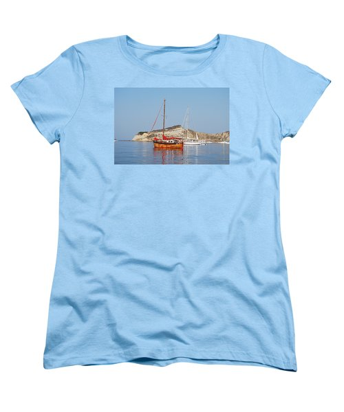Women's T-Shirt (Standard Cut) featuring the photograph Tall Ship by George Katechis