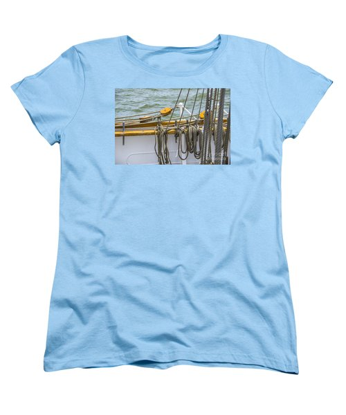 Women's T-Shirt (Standard Cut) featuring the photograph Tall Ship Rigging by Dale Powell