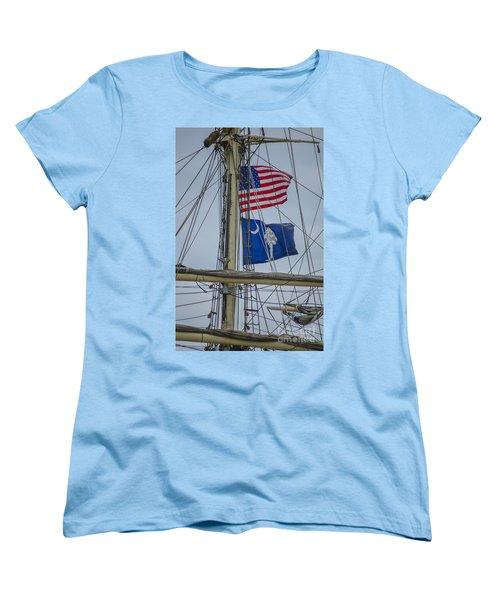 Tall Ships Flags Women's T-Shirt (Standard Cut) by Dale Powell