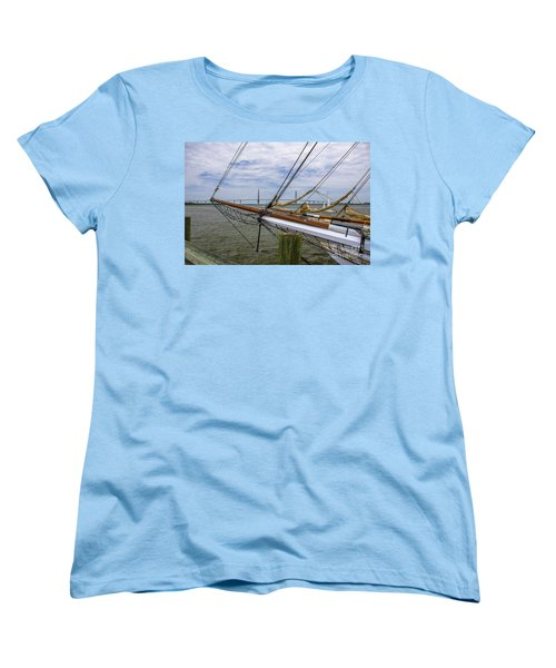 Women's T-Shirt (Standard Cut) featuring the photograph Tall Ships In Charleston by Dale Powell
