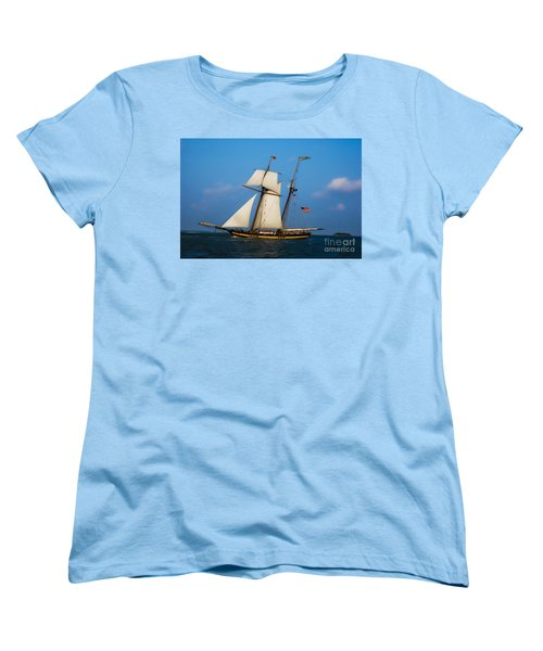 Women's T-Shirt (Standard Cut) featuring the digital art Tall Ships Over Charleston by Dale Powell