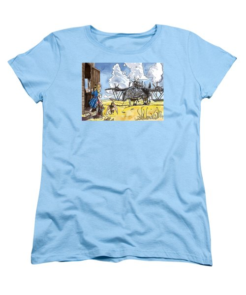 Women's T-Shirt (Standard Cut) featuring the painting Tammy Sees A Thingamajig by Reynold Jay