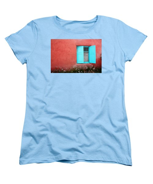 Taos Window Iv Women's T-Shirt (Standard Cut) by Lanita Williams