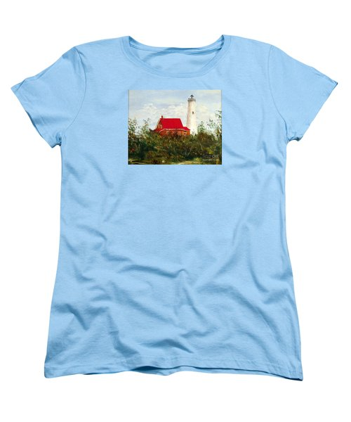 Women's T-Shirt (Standard Cut) featuring the painting Tawas by Lee Piper