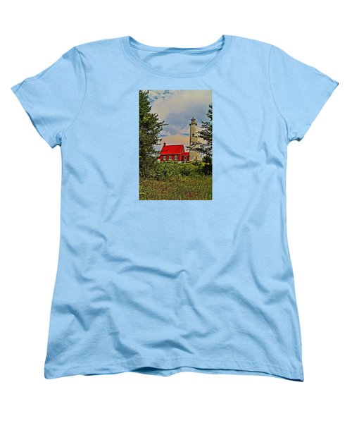 Tawas Point Light Retro Mode Women's T-Shirt (Standard Cut) by Daniel Thompson