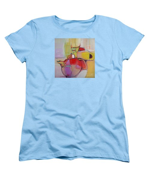 Women's T-Shirt (Standard Cut) featuring the painting Tea For Two by Michelle Abrams