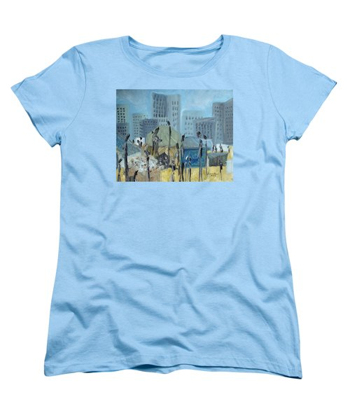 Tent City Homeless Women's T-Shirt (Standard Cut) by Judith Rhue