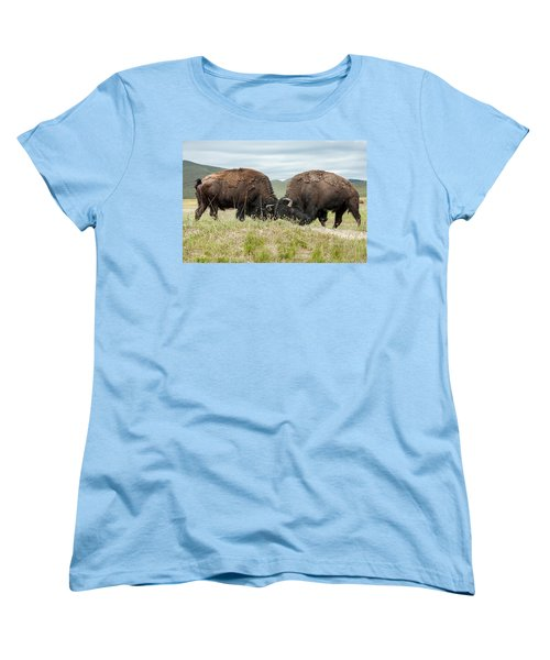 Women's T-Shirt (Standard Cut) featuring the photograph Test Of Strength by Jack Bell