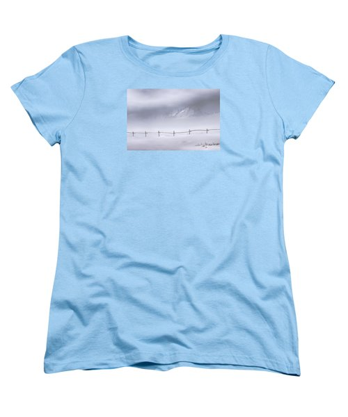 Women's T-Shirt (Standard Cut) featuring the photograph Teton Morning by Priscilla Burgers