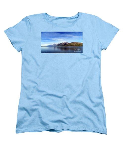 Tetons By The Lake Women's T-Shirt (Standard Cut) by Ausra Huntington nee Paulauskaite