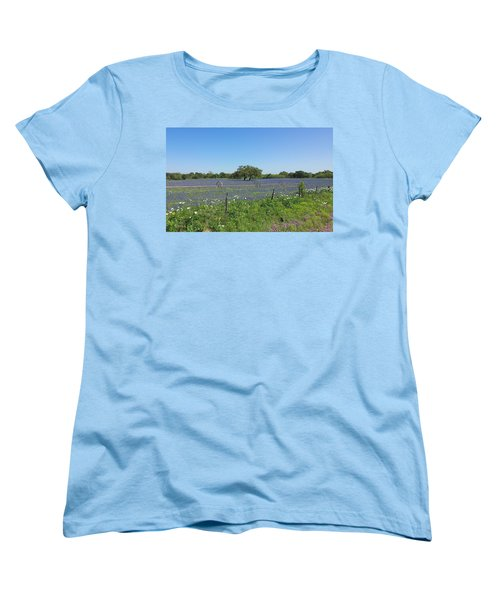 Texas Blue Bonnets Women's T-Shirt (Standard Cut) by Shawn Marlow