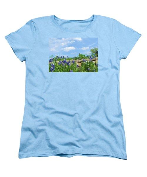 Texas Bluebonnets 08 Women's T-Shirt (Standard Cut) by Robert ONeil