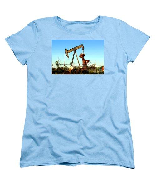 Texas Pumping Unit Women's T-Shirt (Standard Cut) by Kathy  White