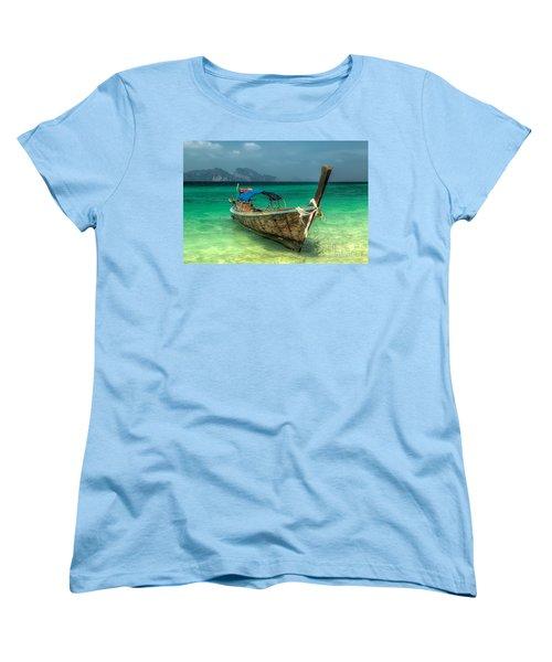 Thai Boat  Women's T-Shirt (Standard Cut) by Adrian Evans