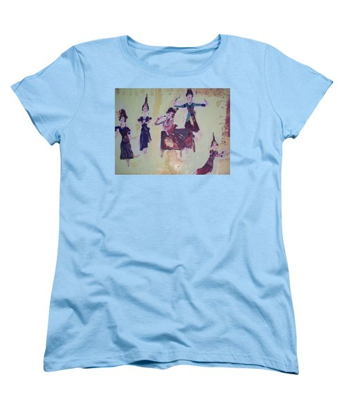 Women's T-Shirt (Standard Cut) featuring the painting Thai Dance by Judith Desrosiers