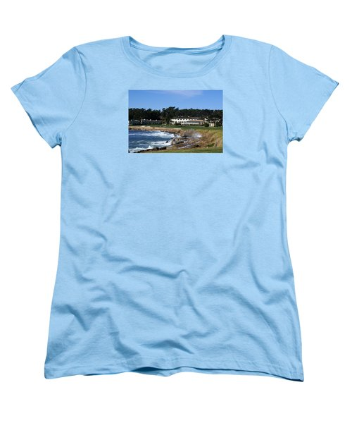 The 18th At Pebble Beach Women's T-Shirt (Standard Cut) by Barbara Snyder
