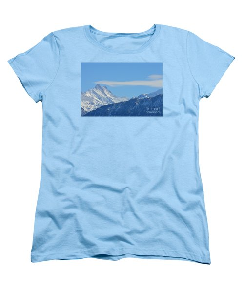 The Alps In Azure Women's T-Shirt (Standard Cut) by Felicia Tica