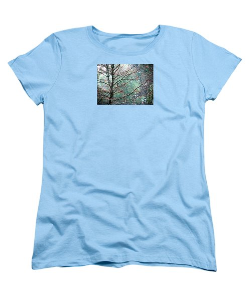 Women's T-Shirt (Standard Cut) featuring the photograph The Aura Of Trees by Angela Davies