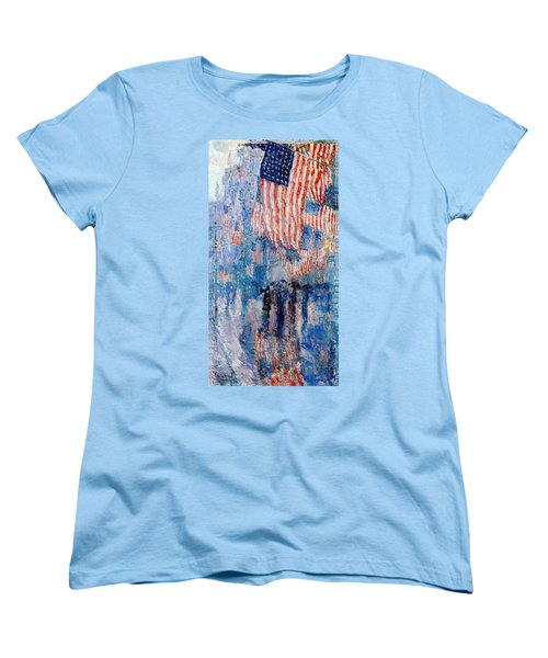 The Avenue In The Rain Women's T-Shirt (Standard Cut) by Frederick Childe Hassam
