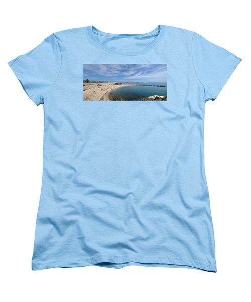 Women's T-Shirt (Standard Cut) featuring the photograph The Beach At Cap D' Antibes by Allen Sheffield