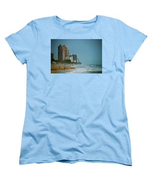 The Beach Near Fort Lauderdale Women's T-Shirt (Standard Cut) by Eric Tressler