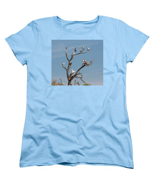 Women's T-Shirt (Standard Cut) featuring the photograph The Bird Tree by John M Bailey
