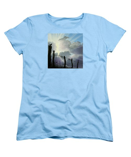 The Birds - Make A Joyful Noise Women's T-Shirt (Standard Cut) by Jack Malloch