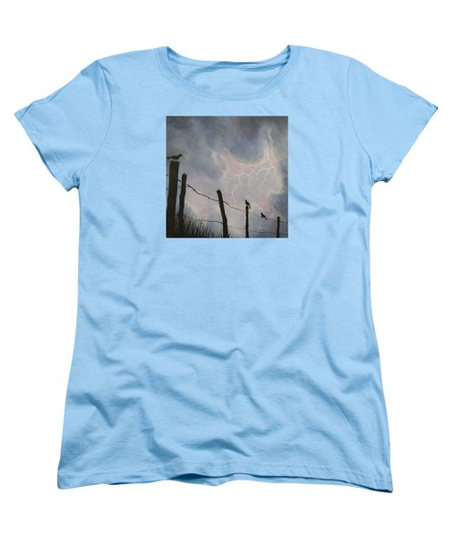 The Birds - Watching The Show Women's T-Shirt (Standard Cut) by Jack Malloch