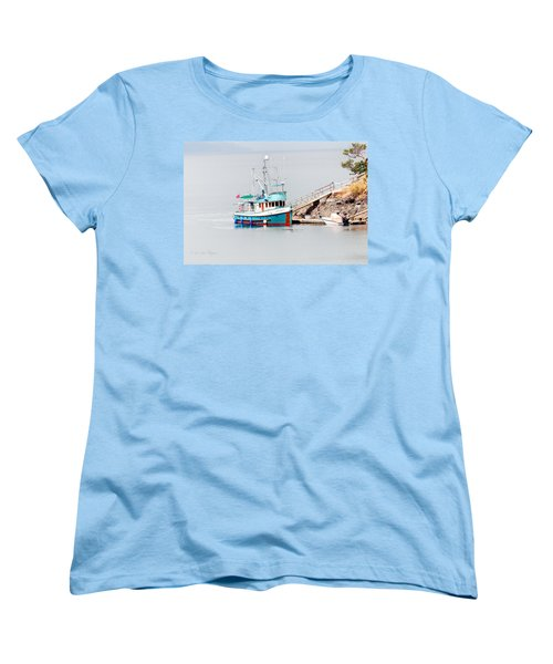Women's T-Shirt (Standard Cut) featuring the photograph The Boat by Jim Thompson