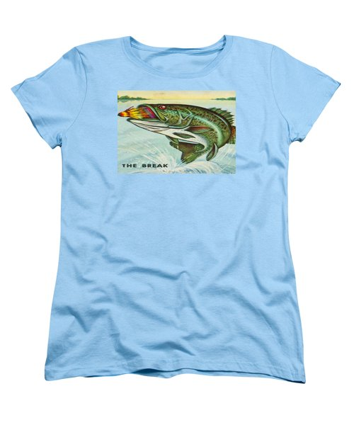Women's T-Shirt (Standard Cut) featuring the digital art The Break by Cathy Anderson