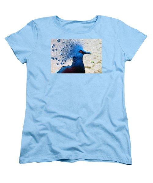 Women's T-Shirt (Standard Cut) featuring the photograph The Bright Blue Bird by Nina Silver