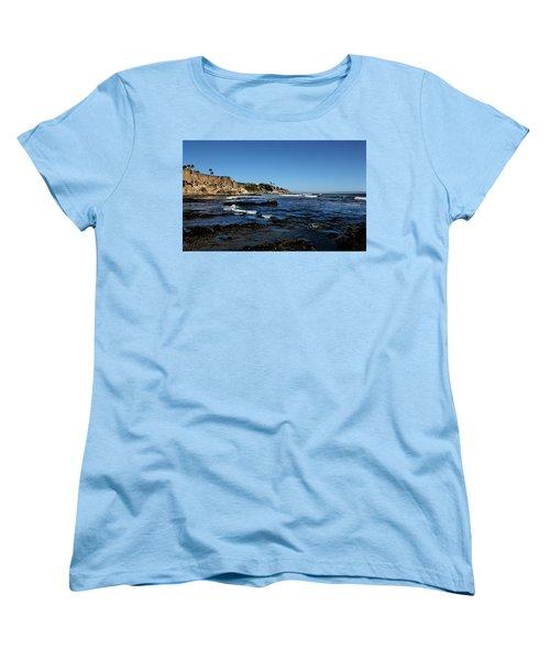 The Cliffs Of Pismo Beach Women's T-Shirt (Standard Cut) by Judy Vincent
