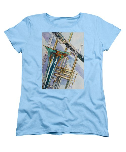 The Color Of Music Women's T-Shirt (Standard Cut) by Jenny Armitage