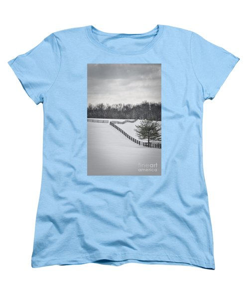 The Color Of Winter - Bw Women's T-Shirt (Standard Cut) by Mary Carol Story