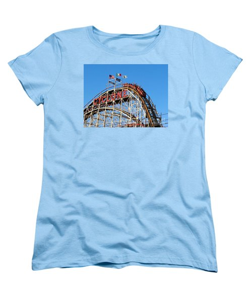 Women's T-Shirt (Standard Cut) featuring the photograph The Cyclone by Ed Weidman