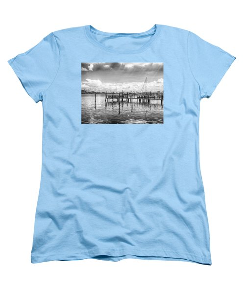 Women's T-Shirt (Standard Cut) featuring the photograph The Dock by Howard Salmon