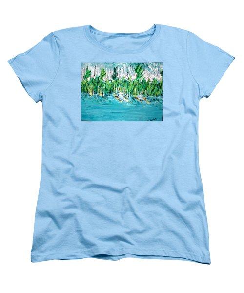 The Docks Women's T-Shirt (Standard Cut) by George Riney