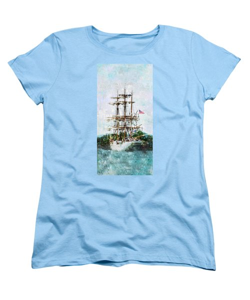 Tall Ship Eagle Has Landed Women's T-Shirt (Standard Cut) by Marianne Campolongo
