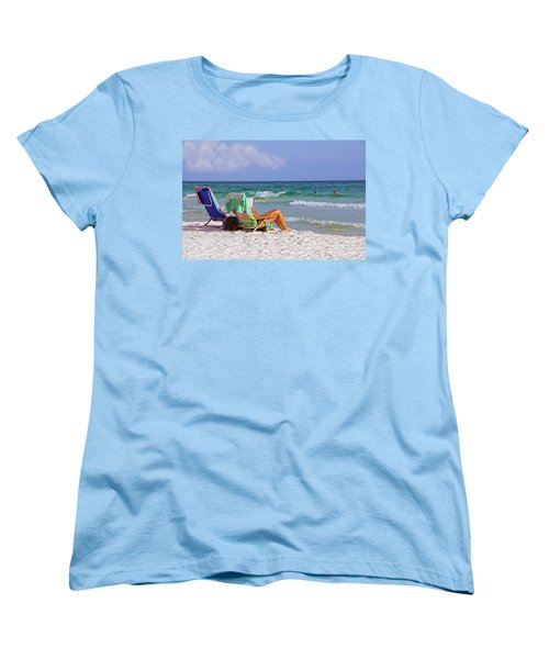 Women's T-Shirt (Standard Cut) featuring the photograph The Emerald Coast by Charles Beeler
