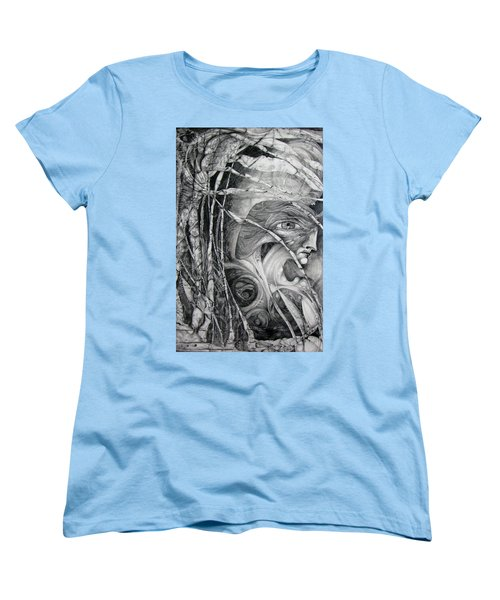 Women's T-Shirt (Standard Cut) featuring the drawing The Eye Of The Fomorii - Regrouping For The Battle by Otto Rapp