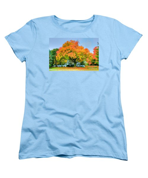 Women's T-Shirt (Standard Cut) featuring the photograph The Family Tree In Autumn by Robert Pearson
