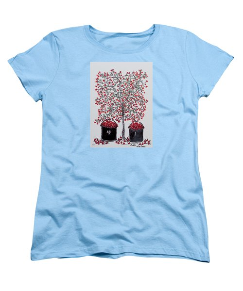 The Famous Door County Cherry Tree Women's T-Shirt (Standard Cut) by AndyJack Andropolis