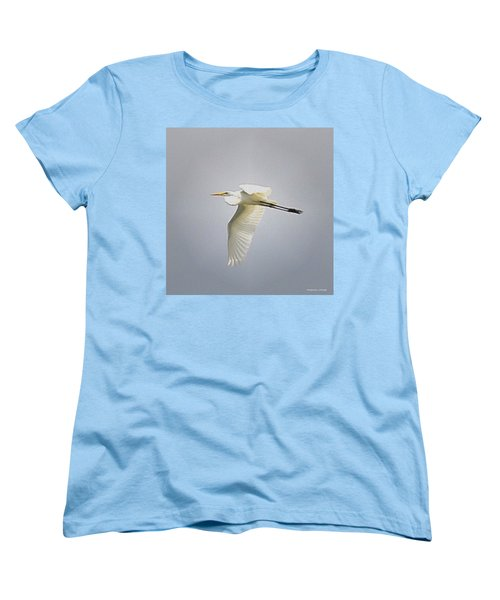 The Flight Of The Great Egret With The Stained Glass Look Women's T-Shirt (Standard Cut) by Verana Stark