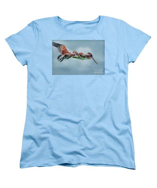 The Flying Pair Women's T-Shirt (Standard Cut) by Deborah Benoit