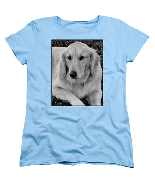 The Golden Retriever Women's T-Shirt (Standard Cut) by James C Thomas