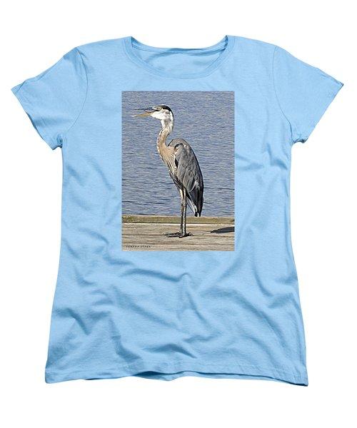 The Great Blue Heron Photo Women's T-Shirt (Standard Cut) by Verana Stark