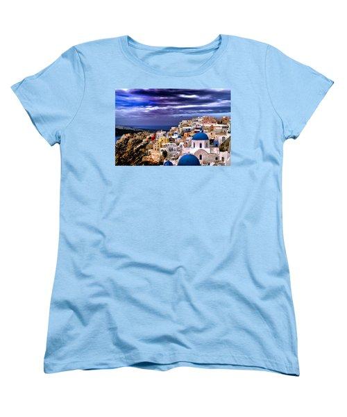 The Greek Isles Santorini Women's T-Shirt (Standard Cut) by Tom Prendergast