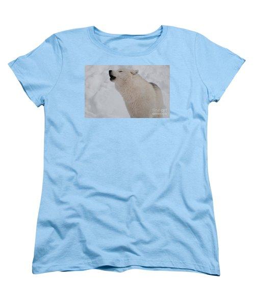Women's T-Shirt (Standard Cut) featuring the photograph The Howler by Bianca Nadeau