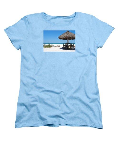 The Kokonut Hut  Women's T-Shirt (Standard Cut) by Margie Amberge